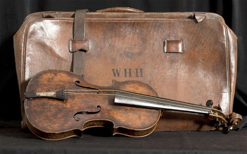 "CODA  The violin used by Wallace Hartley as he and his band famously played ""Nearer My God to Thee"" while the Titanic sank more than 100 years ago was thought to have been lost.  But it was recovered — inside a leather bag strapped to Hartley's body, found days after the tragedy — and was finally authenticated this year, seven years after it had been found stashed away in an attic.  (Photo: Bournemouth News via The Telegraph)"
