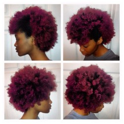 blackalternativehairandbeauty:  I love how textured afros look when you dye them. idk whether that's the right word for it, the way that the colour doesn't ever look flat or boring. It's gorgeous and I can't wait to colour my hair.