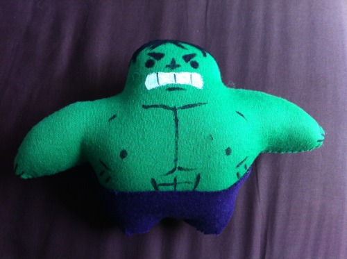 Plushie Hulk Smash!  Made for my friend Blaze as a birthday present