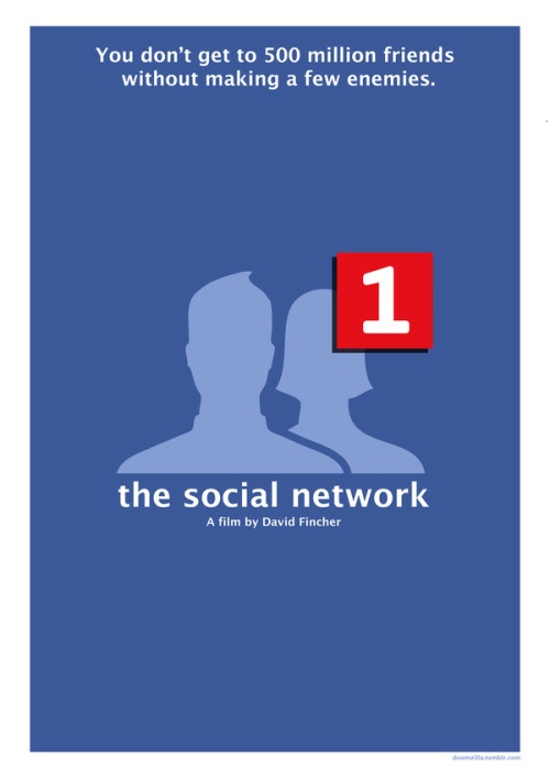minimalmovieposters:  The Social Network by AKADoom