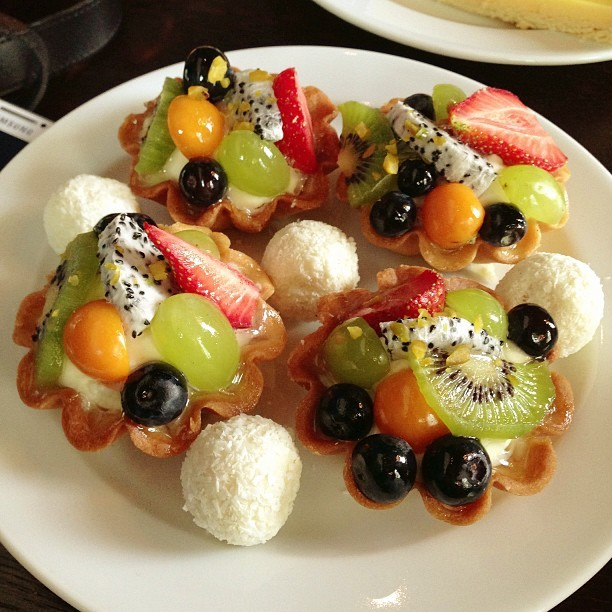 #Fruit #Tart with #white #chocolate #rum #balls - #travel #dessert #Germany