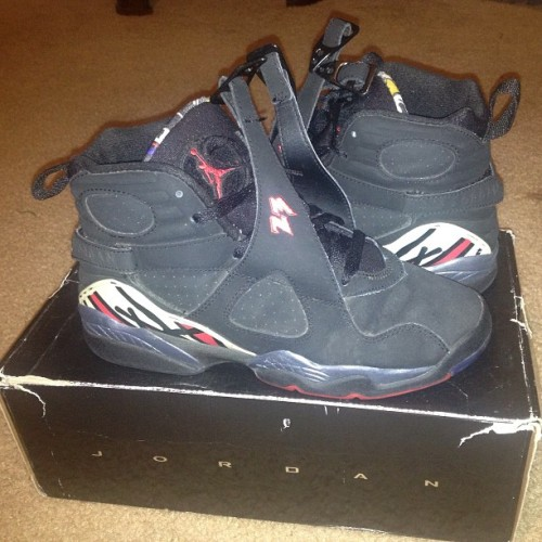 Selling Air  jordan 8 retro (gs) playoff  Size - 6   Price: offers