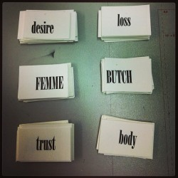 #letterpress #femme #butch #desire #loss #trust #body work in progress