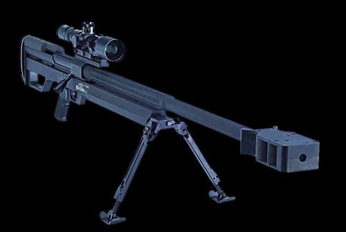 "On the topic of sniper rifles, or should i say counter sniper and/or anti material rifles… The Steyr HS50 A single shot .50BMG rifle, apparently to be avalible in .460 Steyr ('oooooo') once the round is released. A friend of mine was able to fire one of these in the Falklands  and said the muzzle break is fantastic, he likened the recoil to ""nothing more that that of an L85A2"""