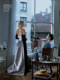 moddiablo69:  Window Dressing:Carolyn Murphy & Tobey Macguire/Peter Lindbergh(Vogue)