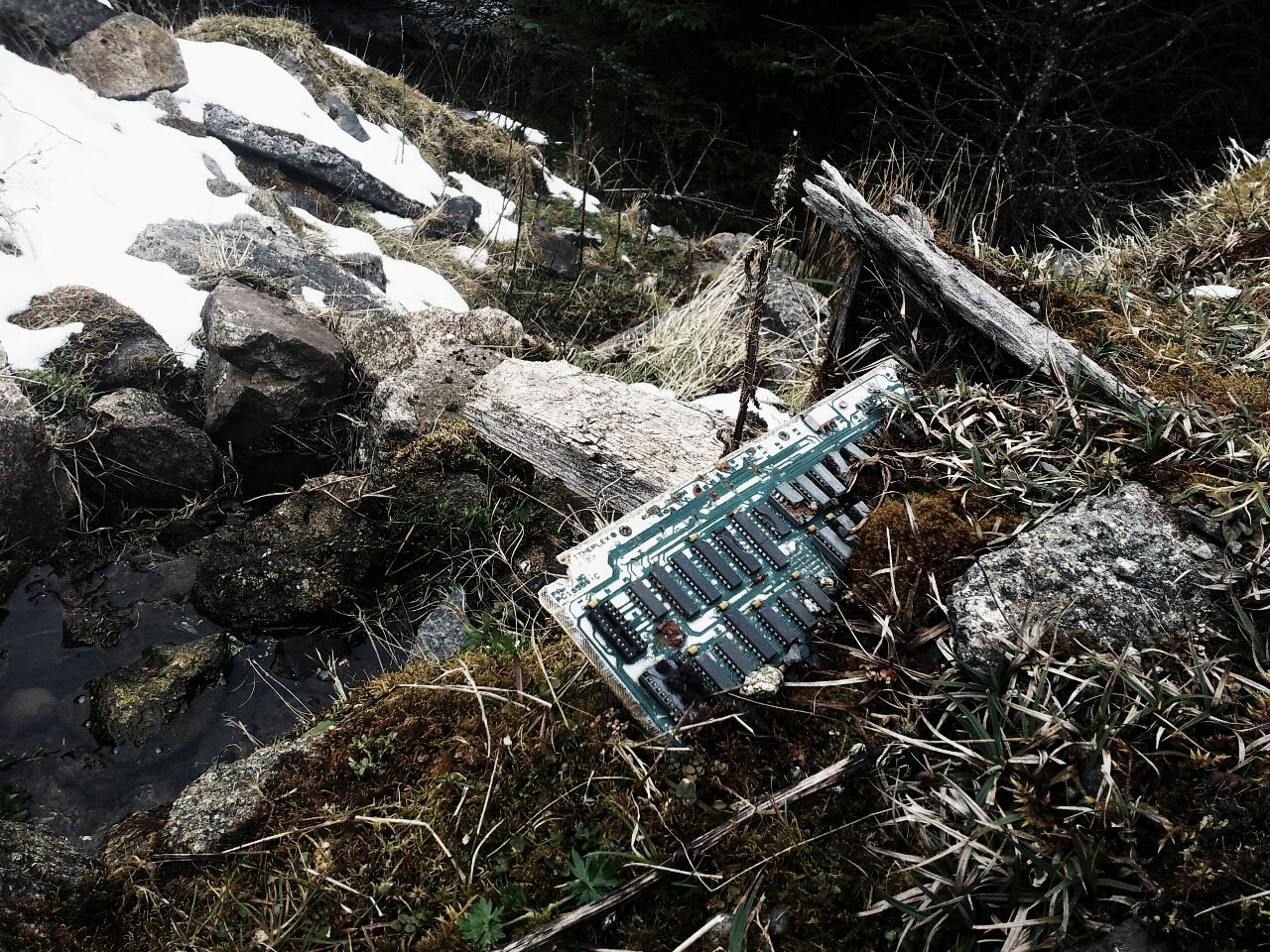 Early computer stuck in Dublin Mountains