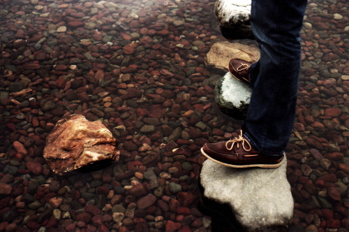 — Jack's feet in Lake McDonald. Glacier National Park, Montana. October 2012.