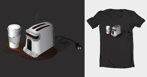 Fracking Toaster by flamingm0nk is up for scoring at Threadless!