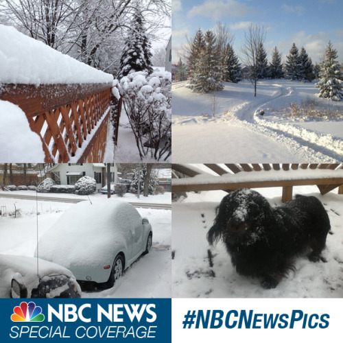 #NBCNewsPics: Share your blizzard photos (Photos: @ruthspiro, @shamrock604, @shankilpatrick and @trayce1999 on Twitter) A crippling and potentially historic winter storm is barreling toward the Northeast this weekend, threatening tens of millions of people with 2 feet of snow. How is the blizzard affecting your area? Show us with the hashtag #NBCNewsPics on Instagram, Twitter, or upload your pictures directly to NBCNews.com on the link below. See blizzard photos.