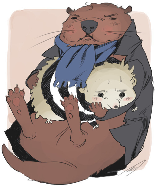 reapersun:  sherlock otter and hedgehog john  holyshitreapers youre killing me