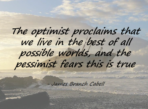 We all need to work on being more optimistic … take initiative to contribute to solutions is a start.