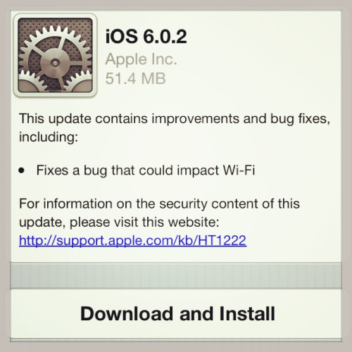 Apple Releases iOS 6.0.2 Software Update for iPhone 5 and iPad Mini to Fix Wi-Fi Bug