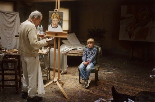'Albie sitting for his grandfather' (Lucian Freud & Albie Morrissey) by David Dawson, 2004