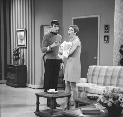 comicmix:   Monday Mix-Up: Spock meets Spock and Carol Burnett   In preparation for Star Trek Into Darkness, we present you with these dark moments…   Whaaaaaaaaaaaat?     View Post