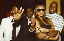 Jay-Z, Kanye West, John Legend, and Mariah Carey.