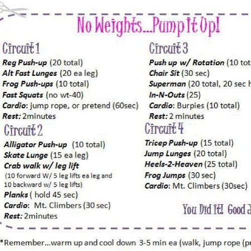 urbangem:  No weights …. Circuit training #fitness #exercise #workout #circuits