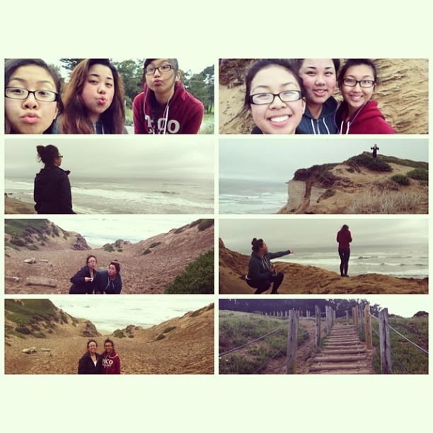 Hiking at Fort Funston with the girls earlier! 😃💪🌄 @zcabinta @n_esguerra