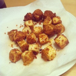#vegan fried #tofu nuggets