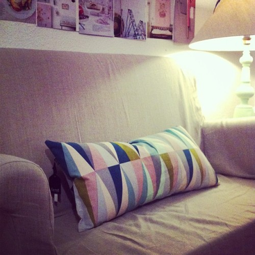 I 💖my new Ferm Living pillow that I bought today from Raumformplan in Hannover!