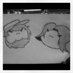 Drew some #gamegrumps today #jontron #egoraptor #hitler