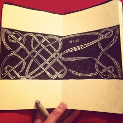 A perfect celtic design #symmetry #alwaysplanahead #sketchbook #moleskine #ink