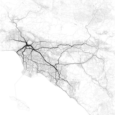 Paths through Los Angeles by Eric Fischer http://flic.kr/p/dvqHQ1
