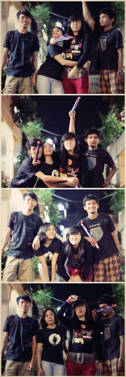 captureyourllife:  @Agriarmy @andriawanmora @kikikarisma @rifkitakiem – View on Path.