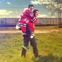 kanerd:   shawsy & bollig  I may have a bromance crush on Andrew Shaw…just sayin