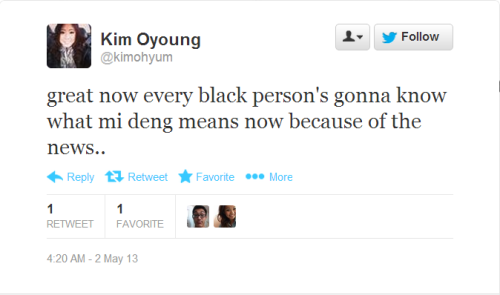 "stfuantiblackasians:  setfabulazerstomaximumcaptain:  theraceproblem:  This is the news story this girl is referring to: Vietnamese Nail salon's racist Twitter tirade offends customers Sharing this as an FYI to my Black followers on what the Vietnamese phrase ""mi deng"" means.  Antiblackness is a hell of a drug  SIgh.  Sounds like another anti-Black Asian should just stfu.  The apologies offered are inadequate.  Ugh.  — biyuti  Omfg, I hate seeing stuff like this happen.  Seriously.    It pisses me off even more seeing fellow Vietnamese folks doing this.  This is not okay at all.  And for the Vietnamese followers, if you see this happening, speak up!"