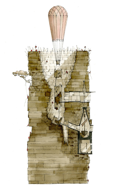 drawingarchitecture:  Mountain Getaway, 2010 Zombie Apocalypse Safe House Competition