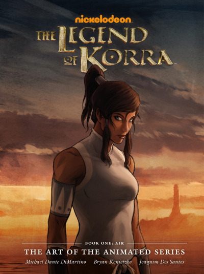 "bryankonietzko:  I'm excited to share with you the final cover art (Korra drawn by Joaquim Dos Santos and painted by me, with a background painting by Fred Stewart) for the upcoming Korra Book One: Air art book, published by our good friends at Dark Horse Books. This was a real labor of love (heavy on the labor) for Mike, Joaquim, and me and all those who helped as we put this book together, and we are so proud of all the great artists' work inside and can't wait to share it with all of you. The plan is to do one of these art books per ""book"" of Korra (so four total), which is daunting yet fantastic. Direct market on sale date: July 24, 2013. Book market on sale date: August 6, 2013. 9"" x 12"" hardcover, 144 pages"