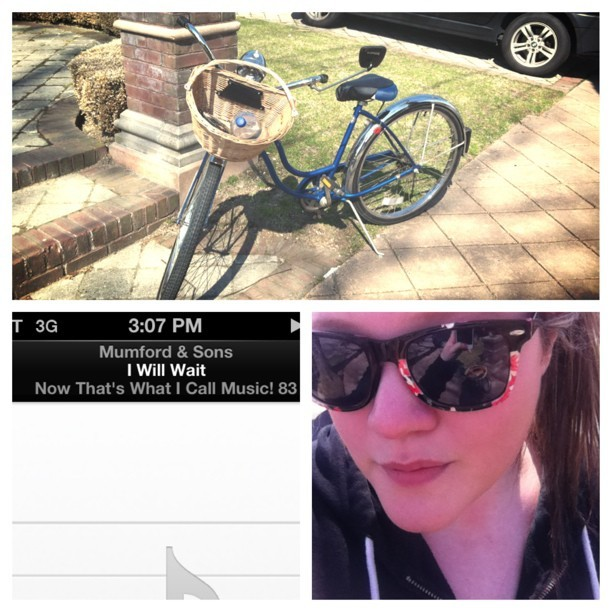 Floral shades+ bicycle+Mumford and Sons = hi i'm a hick #picstitch #schwinn #bike #hick #mumfordandsons #music #iwillwait #shwinning #floral #shades