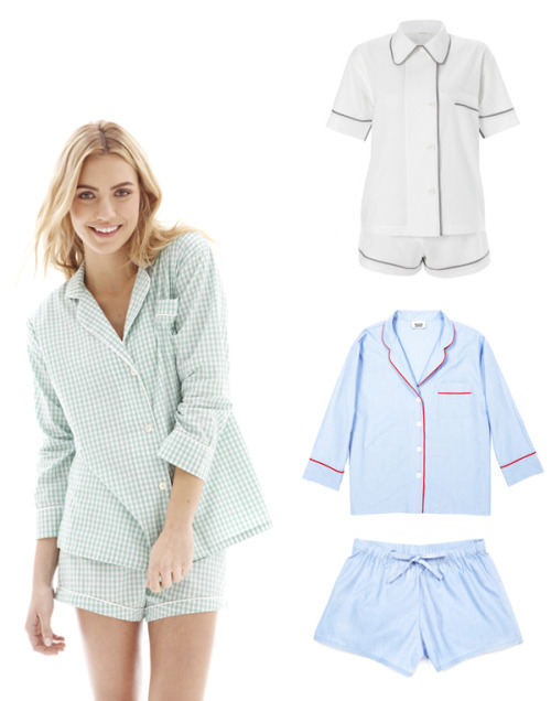 I'm stoked on the influx of expensive cotton pajamas online these days. I feel like the only other thing I'm missing is waking up in some European hotel room, gazing out my balcony with a cappuccino and hazy morning light. Until then, the Lower East Side will have to do.  Marigot Collection Short Pajama Set - $105 Araks for Goop Pajama Set - $295 Sleepy Jones Marina and Tauba Shorts - $136 + $54