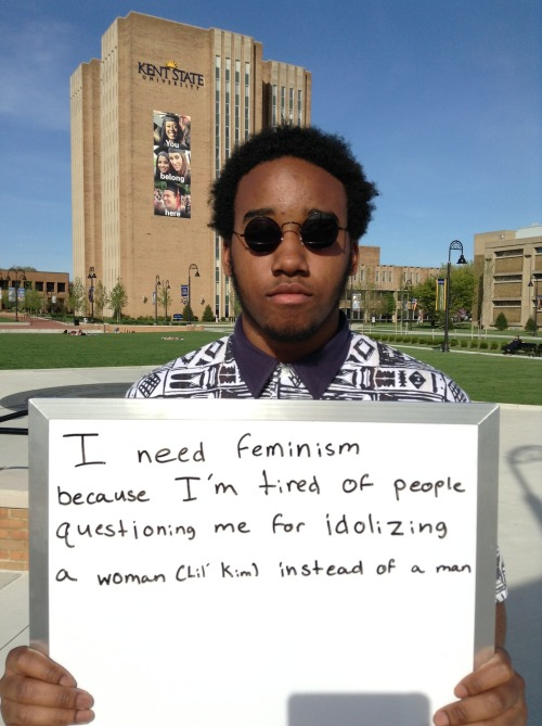 "whoneedsfeminism:  ""I need feminism because I'm tired of people questioning me for idolizing a woman (Lil' Kim) instead of a man."""