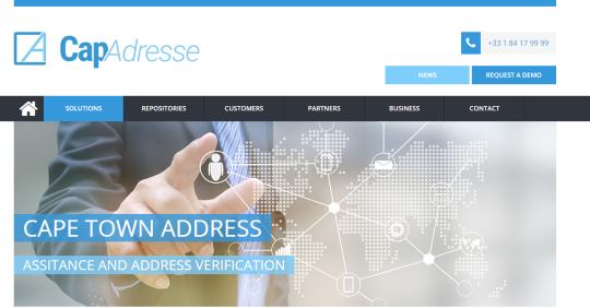 image of capadresse.com homepage