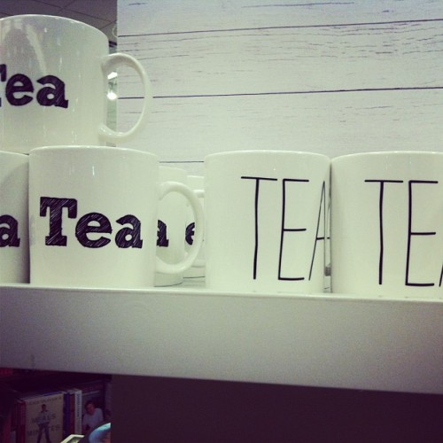 I wanted the one on the left sobad #tea #mug