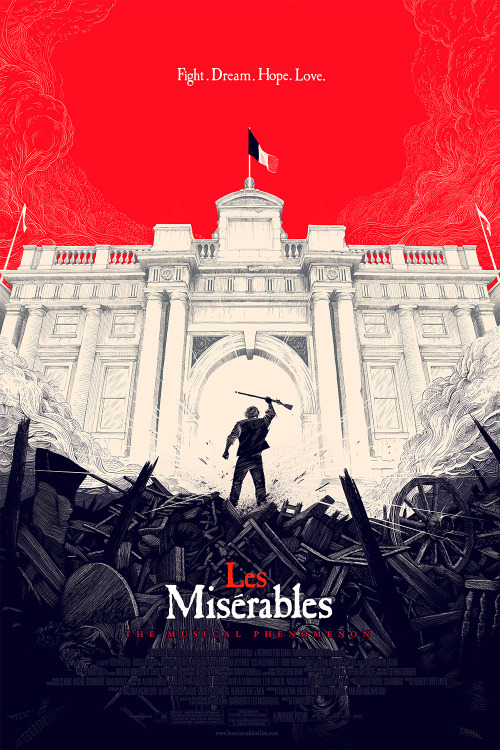 Les Miserables alternative movie poster designed by @OllyMoss