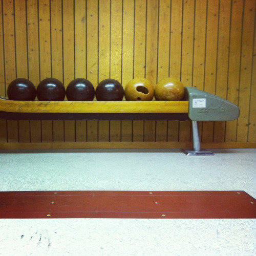 "Not bowling! It's called ""kegeln"" in Switzerland!"