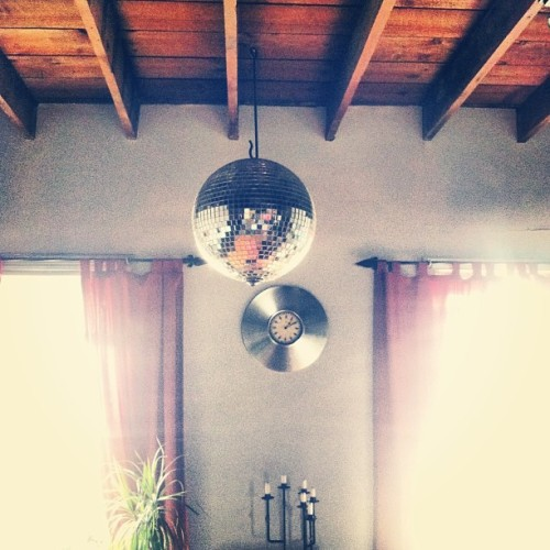 Disco ball in the crib. #thefinerthings