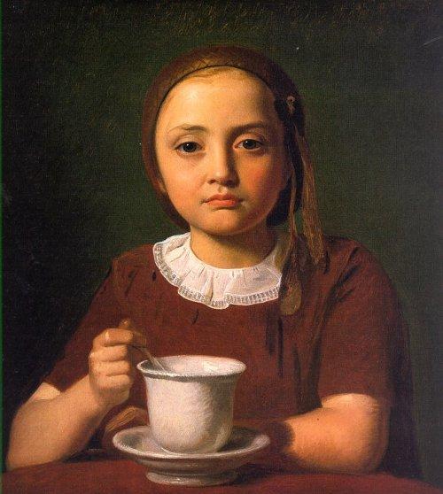 Niña con Taza, 1850, Constantin Hansen