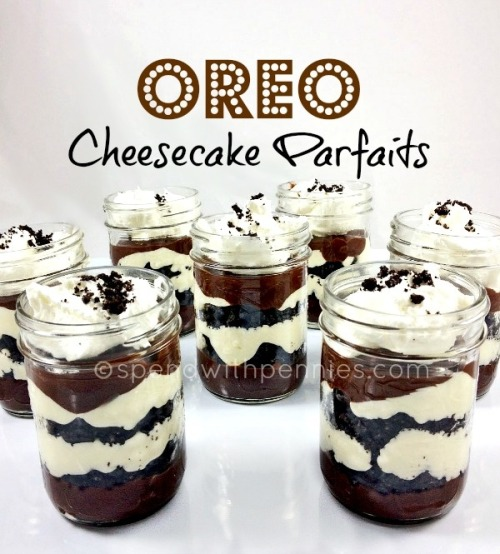 sugarelixir:  Oreo Cheesecake Parfaits