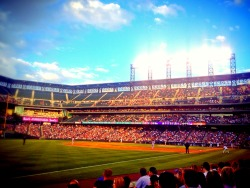at Coors Field – View on Path.