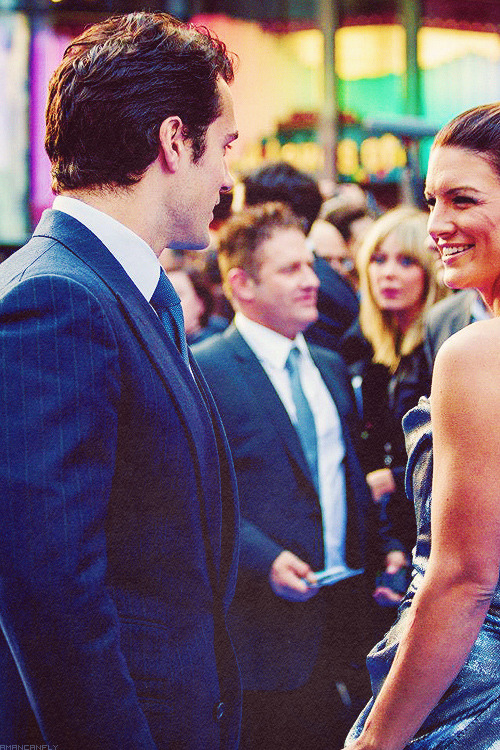 Henry Cavill and Gina Carano at the Fast 6 premiere in London.