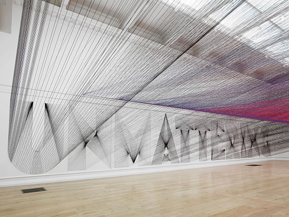 gorg:  It's Nice That : Stunning 48 kilometre thread installation arrives at South London Gallery