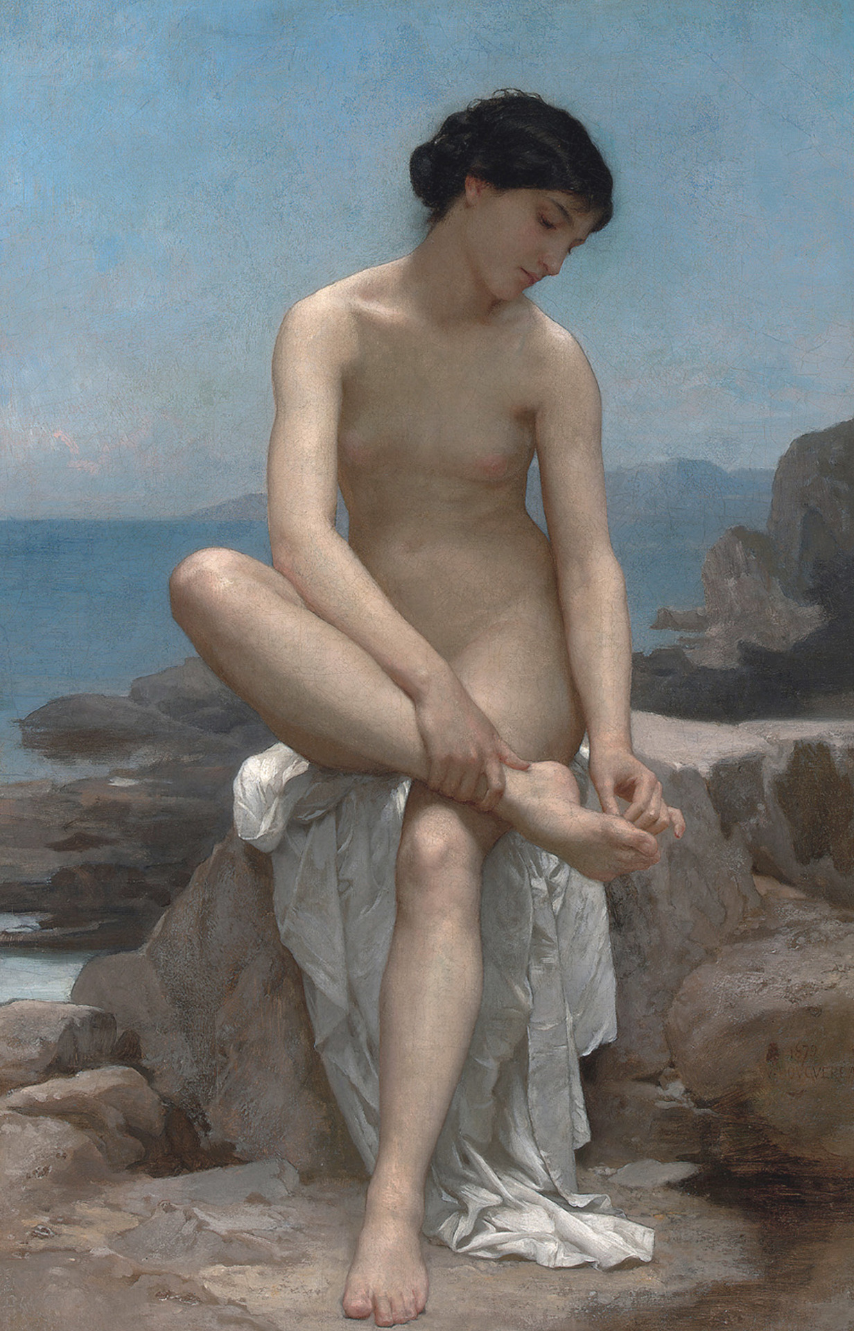 "arsvitaest:  ""The Bather"" Author: William-Adolphe Bouguereau (French, 1825-1905)Date: 1879Medium: Oil on canvas"