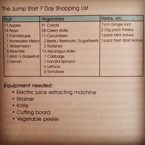 Jump Start Juicer Recipe Book