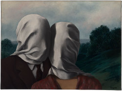 soulhospital:  Les Amants (The Lovers) - René Magritte, 1928. Belgian Surrealism - Oil paint on canvas, 54 x 73 cm. Permanent Collection of the National Gallery of Australia, Canberra.