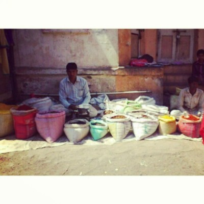 #selling #spices #streetmarket #village