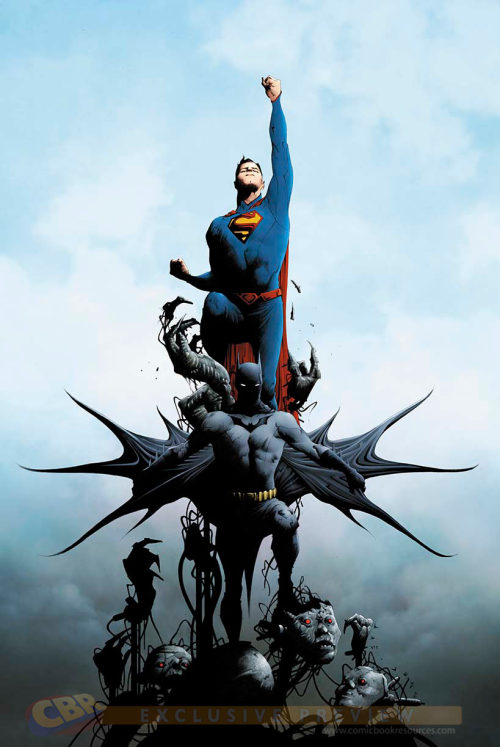 "yuekato:  freaksetgeeks:  BATMAN/SUPERMAN #1Scénario de GREG PAKDessin et cover by JAE LEE1:100 B&W variant cover par JAE LEE1:25 BATMAN variant cover par KENNETH ROCAFORT1:25 SUPERMAN variant cover par GUILLEM MARCH""We Can Be Heroes"" blank variant cover availableEn vente le 5 Juin • 32 pg, FC, $3.99 US • RATED TCombo pack edition: $4.99 US Une nouvelle épopée commence avec le début de cette nouvelle série Ne manquez pas la première réunion de Batman et Superman dans les News52 !Cette édition est également offerte en édition pack combo avec un code de réduction pour un téléchargement numérique   Jae Lee and Kenneth Rocafort… I just came. I need that variant cover Q_Q;;;"