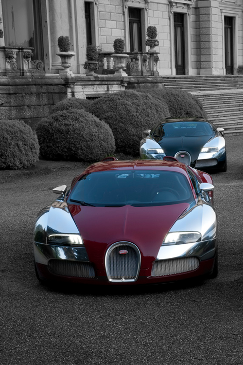 billionaired:  Bugatti Line-Up [via]